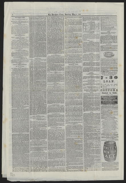 New York Times, [newspaper]. May 6, 1865.