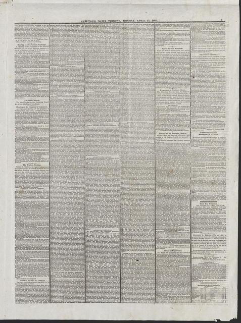 New York Tribune, [newspaper]. April 17, 1865.