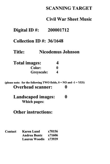 Nicodemus Johnson