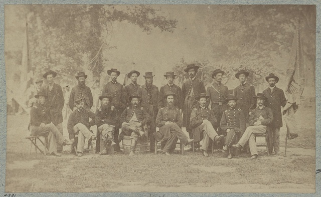 Officers of 36th Illinois Infantry, Camp Harker, June, 1865