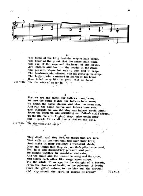 Oh why should the spirit of mortal be proud poem by Abraham Lincoln, late president of U.S.; music by Geo. C. Pearson.