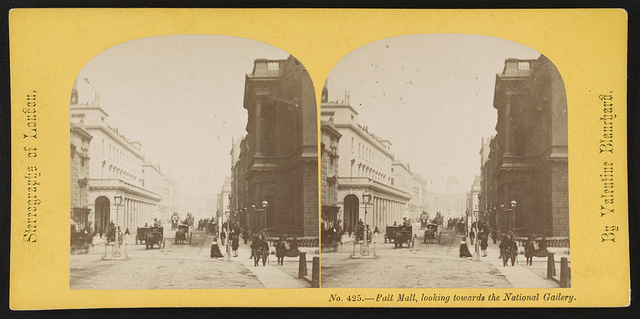 Pall Mall, looking towards the National Gallery / By Valentine Blanchard.