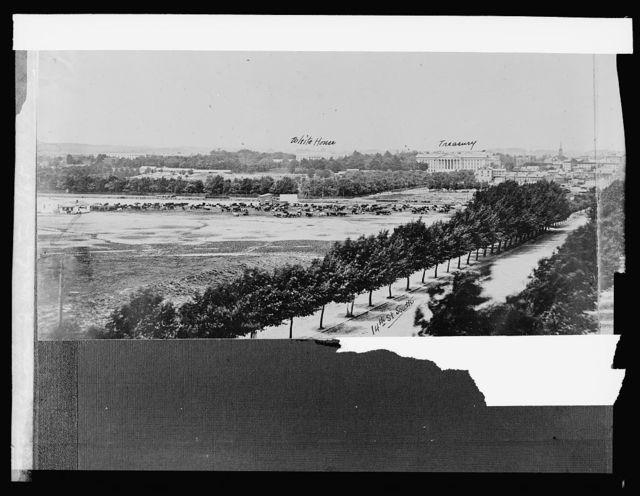 Panorama of Washington, [D.C.], 1865 [showing White House & Treasury Building]