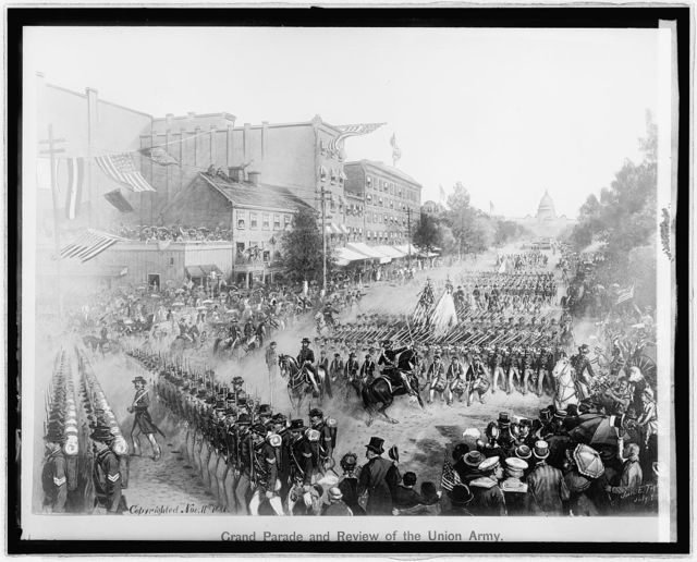 Parade & review of Union Army 15 & Pa. Ave., [Washington, D.C.], May 24, 1865