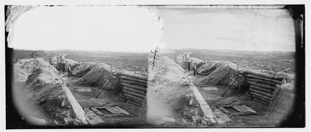[Petersburg, Va. Federal line near Fort Morton]