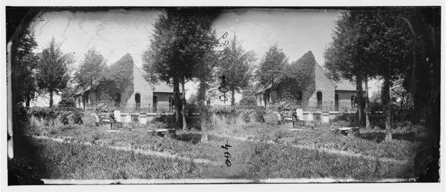 Petersburg, Virginia. Blandford church and graveyard
