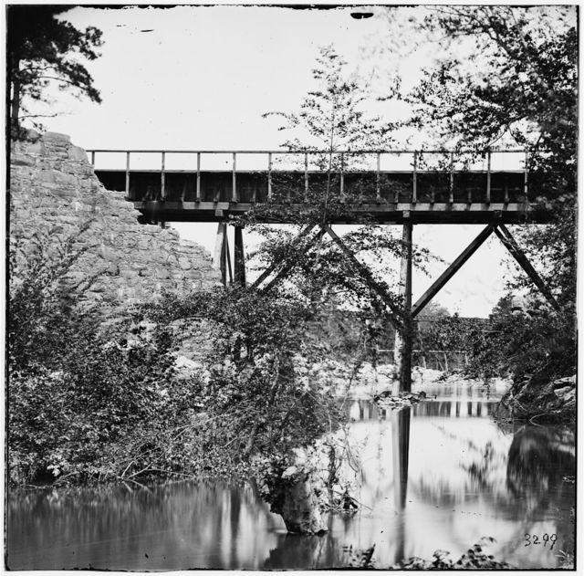 Petersburg, Virginia (vicinity). Footbridge across Old Town Creek