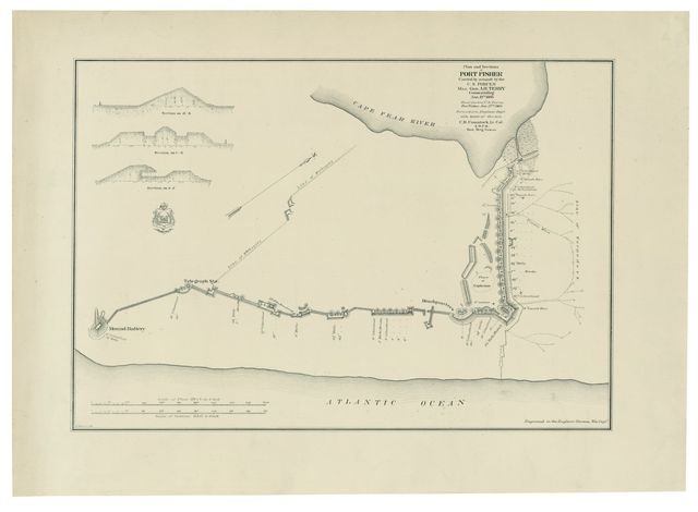 Plan and sections of Fort Fisher, carried by assault by the U.S. forces, Maj. Gen. A.H. Terry commanding, Jan. 15th, 1865 /