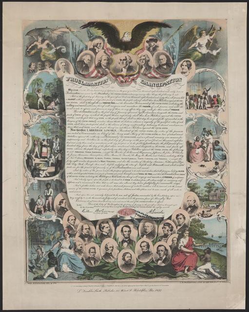 Proclamation emancipation, [Smith/Rosenthal].
