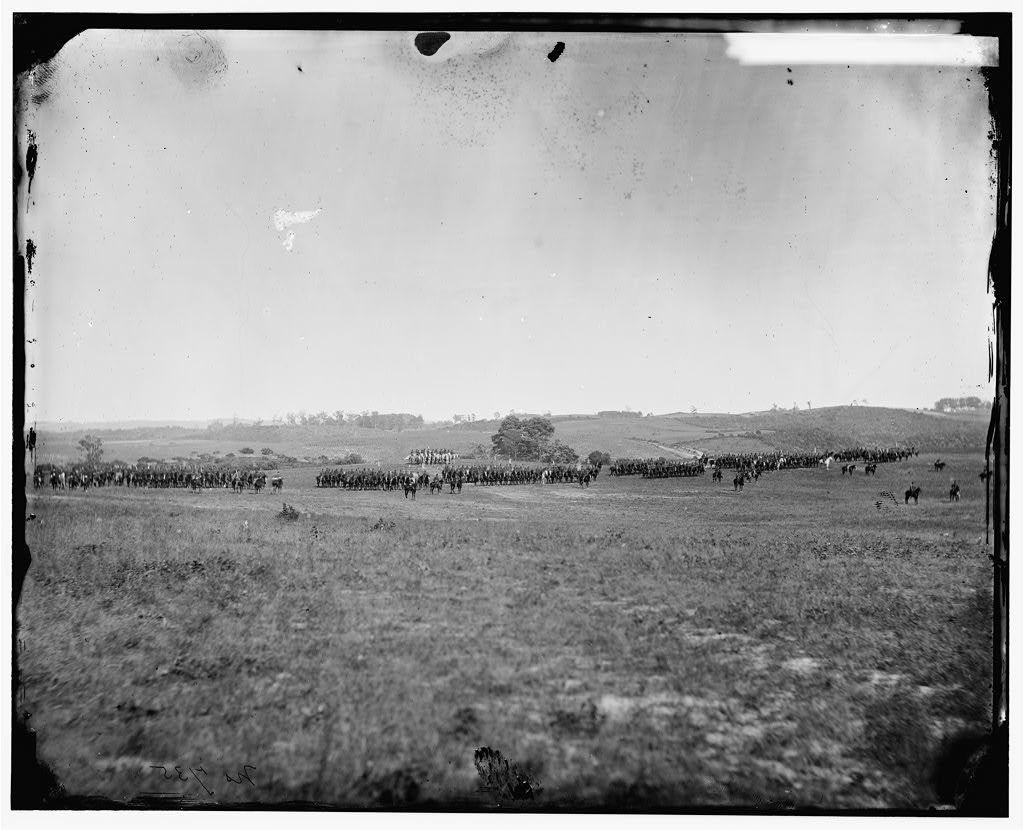 Prospect Hill, Virginia. 13th New York Cavalry on inspection