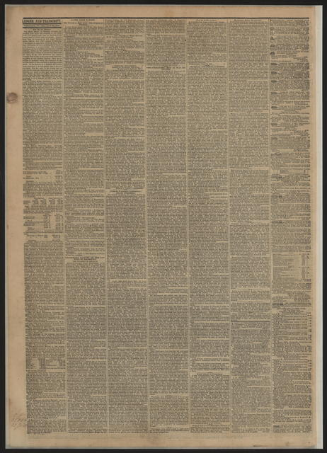 Public Ledger, [newspaper]. April 20, 1865.
