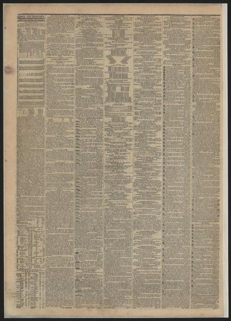 Public Ledger, [newspaper]. April 25, 1865.
