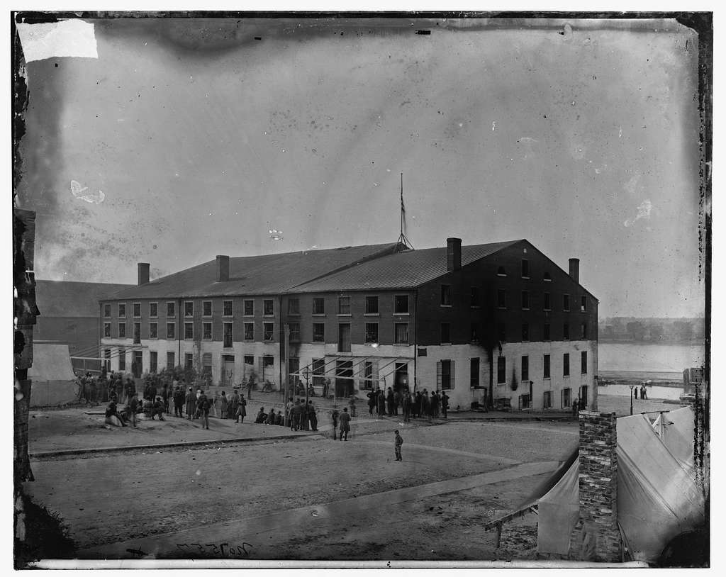 Richmond, Va. Front and side view of Libby Prison