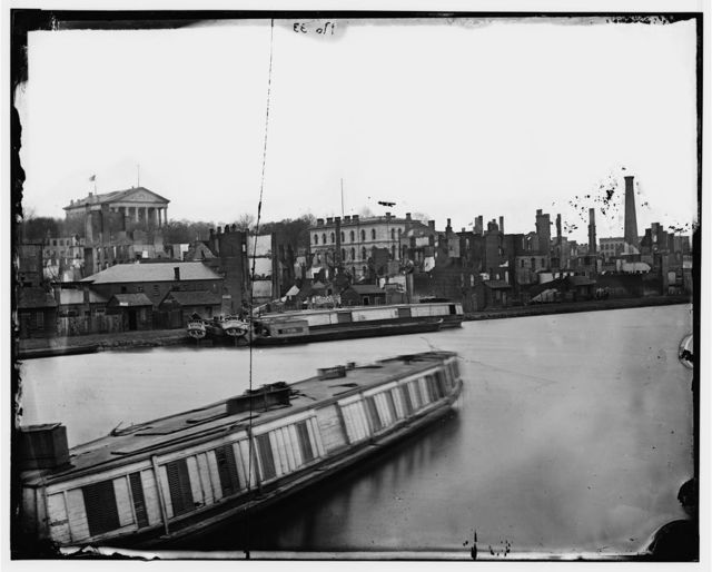 Richmond, Virginia. Burnt district from the Canal Basin