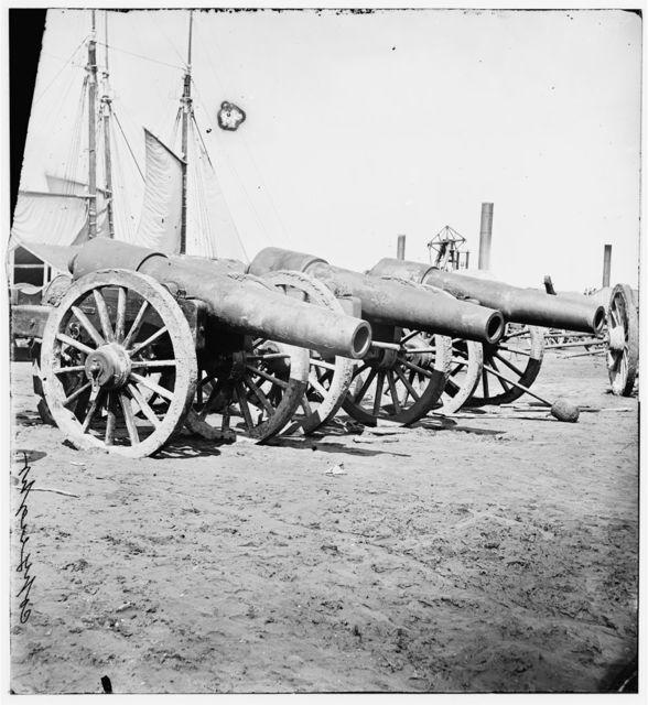 Richmond, Virginia. Captured siege gun at Rocketts