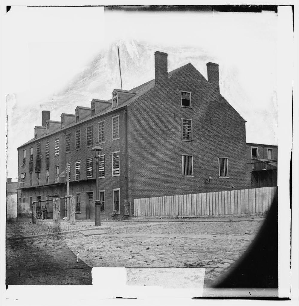 Richmond, Virginia. Castle Thunder (prison) on Cary street