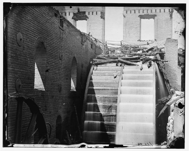 Richmond, Virginia. Ruins of Gallego Mills. Interior view