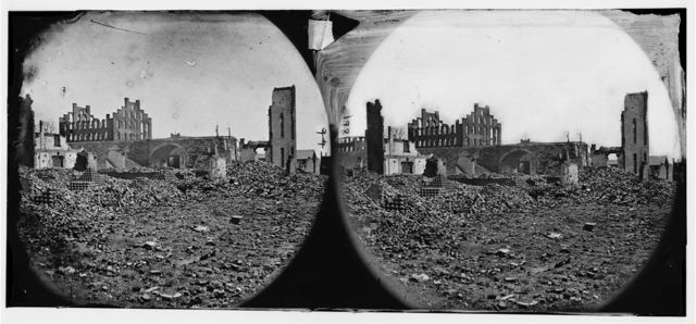 Richmond, Virginia. Ruins of State Arsenal and paper mill