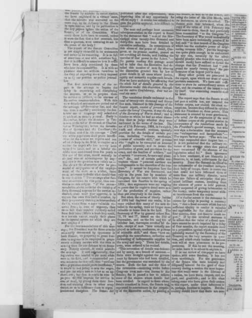 Richmond Virginia  Sentinel, Monday, March 27, 1865  (Newspaper)