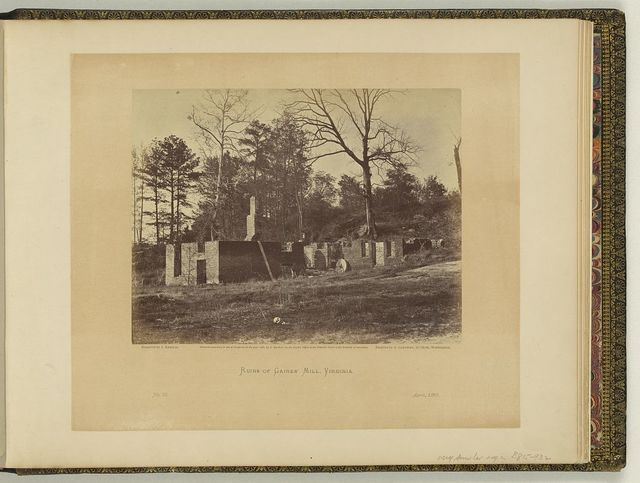 Ruins of Gaines' Mill, Virginia / negative by J. Reekie, positive by A. Gardner.