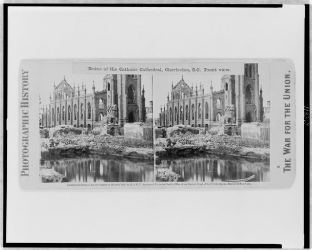 Ruins of the Catholic Cathedral, Charleston, S.C. Front view