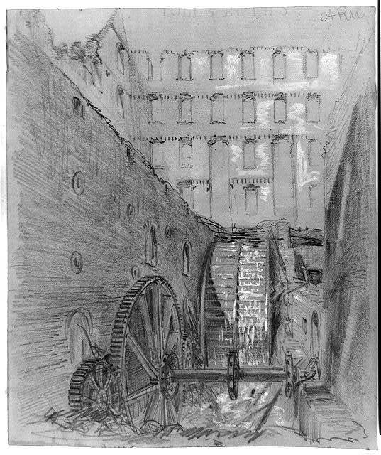 [Ruins of the water wheel in Gallego Flour Mills, Richmond, Va.]