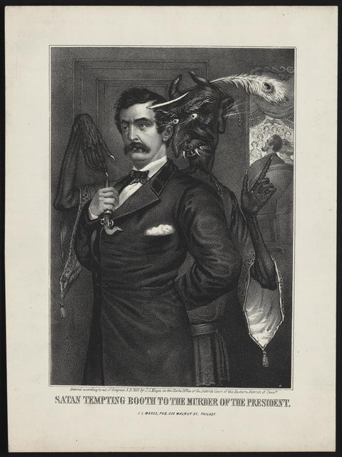 Satan tempting Booth to the murder of the President, [Magee Portrait of Booth].