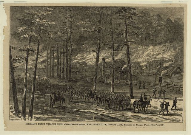 Sherman's March Through South Carolina - Burning of McPhersonville, February 1, 1865