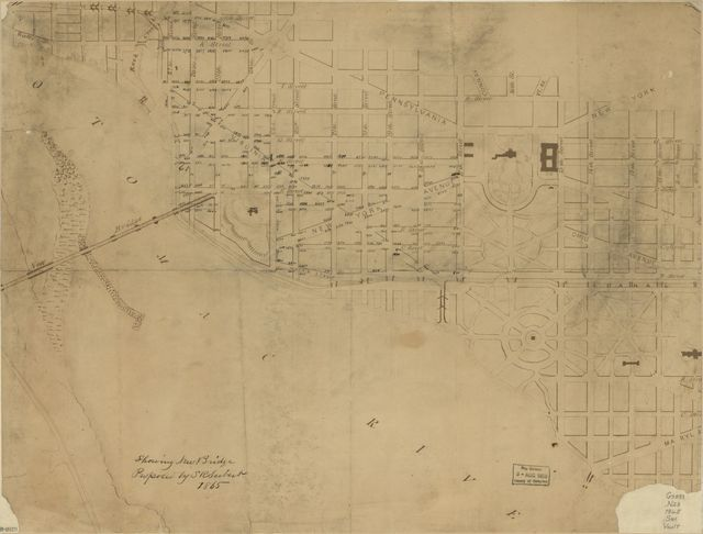 Showing new bridge proposed by S.R. Seibert 1865 : [Washington D.C.].