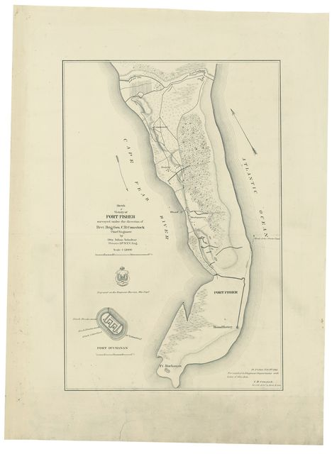 Sketch of vicinity of Fort Fisher /