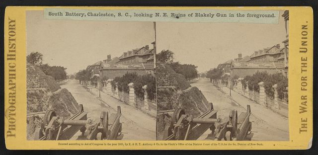 South Battery, Charleston, S.C., looking N.E. Ruins of Blakely Gun in the foreground