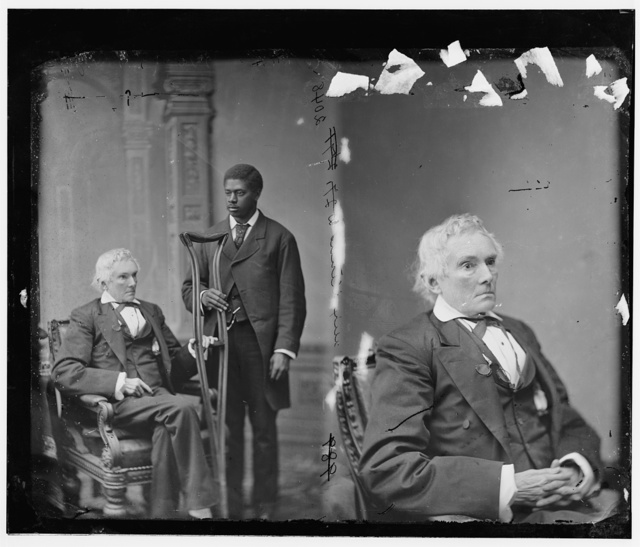 Stephens, Hon. Alexander Hamilton of Georgia (Vice-President of the Confederacy) (with colored man attendant)