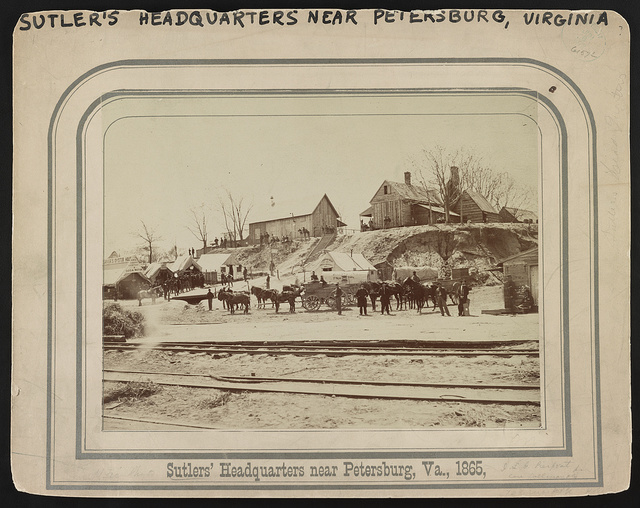 Sutler's headquarters near Petersburg, Va., 1865