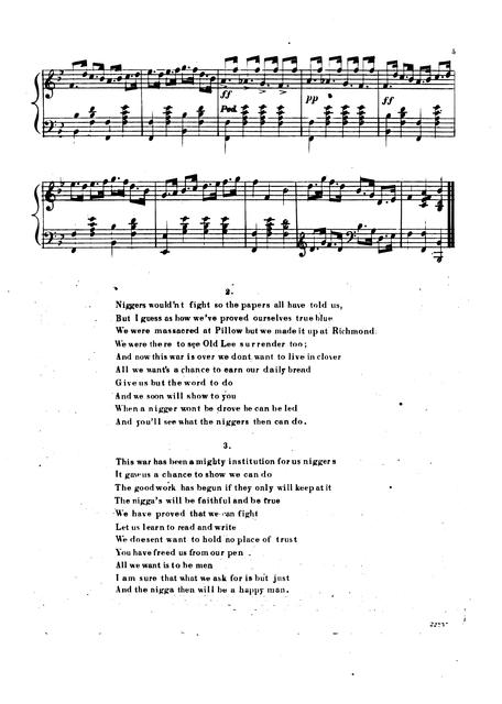 "That's what the niggers then will do: answer to ""Young Eph's Lament"" words by Tom Russell; sung with immense success by Johny Allen of Arlington, Kelly and Leon's Minstrels; music by Geo. H. Barton."
