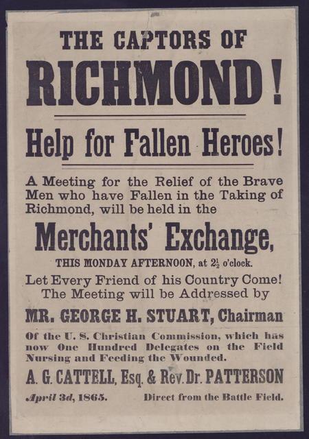 The Captors of Richmond! Help for fallen heroes!