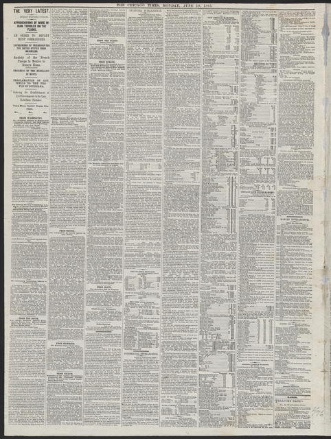 The Chicago Times, [newspaper]. June 19, 1865.