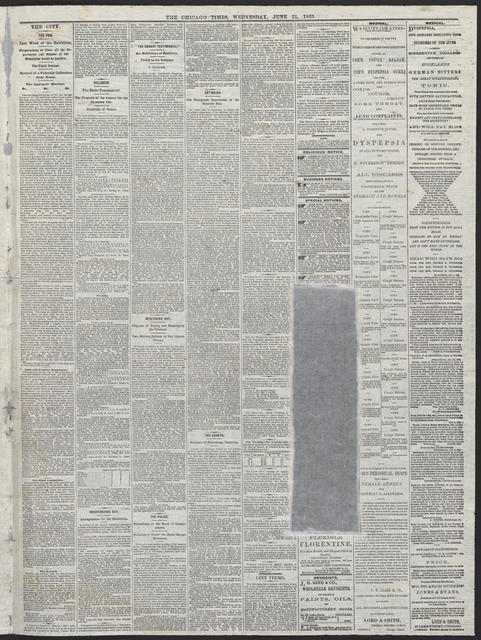 The Chicago Times, [newspaper]. June 21, 1865.