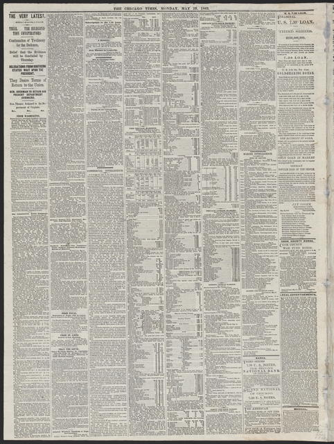 The Chicago Times, [newspaper]. May 29, 1865.