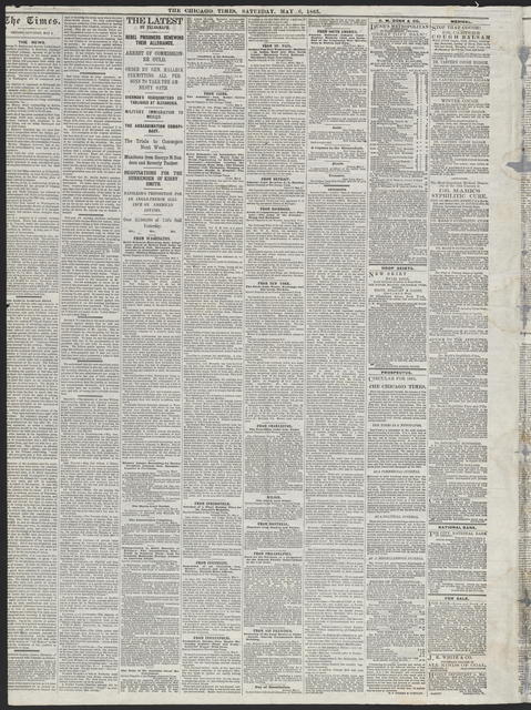 The Chicago Times, [newspaper]. May 6, 1865.
