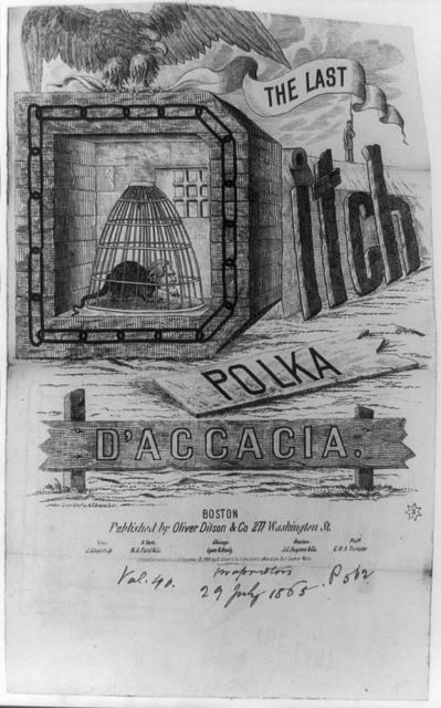 The last ditch polka d'accacia / drawn & engd. by H.F. Greene, Boston.