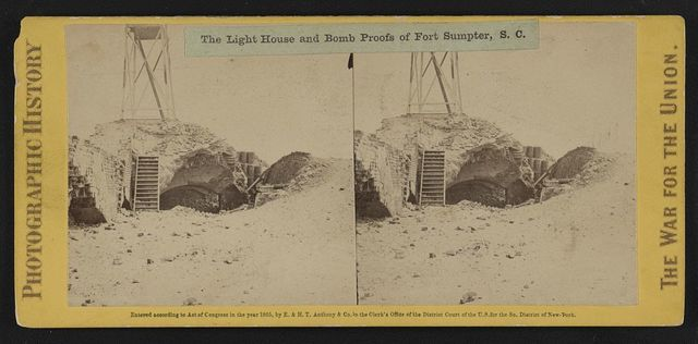 The light house and bomb proofs of Fort Sumpter (i.e. Sumter), S.C.