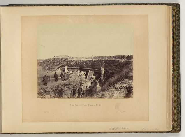 The pulpit, Fort Fisher, N.C. / negative by T.H. O'Sullivan, positive by A. Gardner.