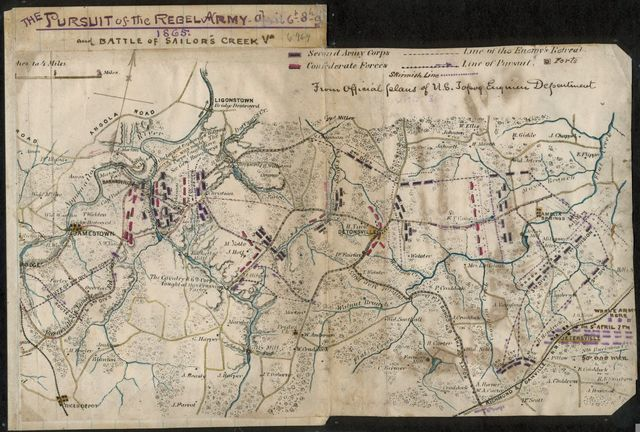 The Pursuit of the rebel army, April 6th-8th, 1865, and Battle of Sailor's Creek, Va.