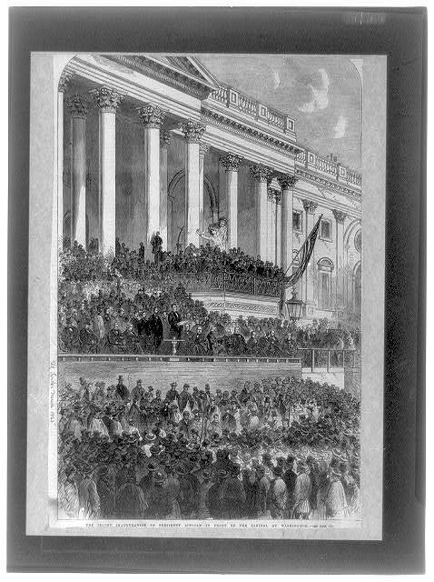 The Second Inauguration of Pres. Lincoln in front of the Capitol at Washington