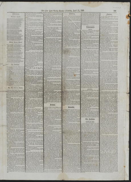 The Weekly Herald, [newspaper]. April 22, 1865.
