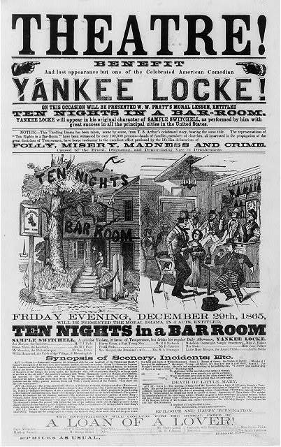 Theatre! Benefit  and last appearance but one of the celebrated American comedian Yankee Locke! ... December 20th, 1865