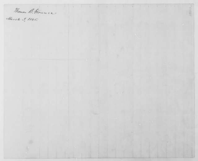 Thomas B. Florence to John G. Nicolay, Friday, March 03, 1865  (Publication of Inaugural Address)