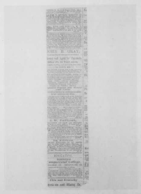 Thomas C. Fletcher, March 1865  (Newspaper clipping of Fletcher's proclamation)