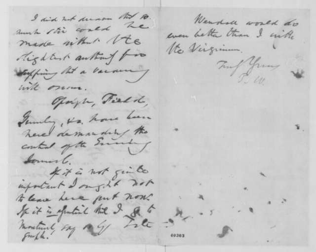 Thurlow Weed to William H. Seward, January 27 [1865]  (New York politics)