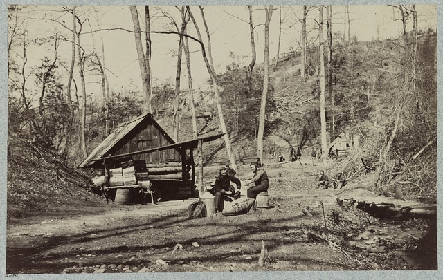 Torpedo Station, James River, Va. Prof. Maillefert and naval officers who were employed in removing Confederate torpedoes, April, 1865